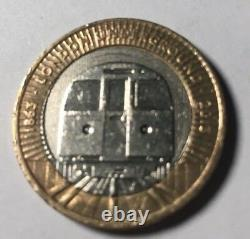 2 Pound Coin 3 X Royal Mint Errors Very Rare London Underground 2013 Circulated