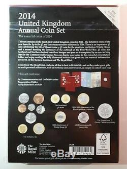 2014 Royal Mint Annual Brilliant Uncirculated 14 Coin Set Mint Sealed Very Rare