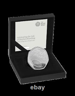 2019 Stephen Hawkings Royal Mint Silver Proof 50p Fifty Pence Coin. Very Rare