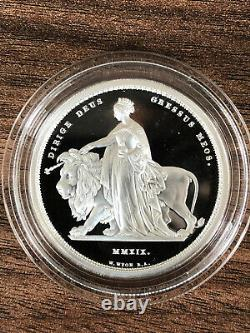 2019 UNA AND THE LION 2 oz. SILVER PROOF £5 COIN, ROYAL MINT, VERY RARE