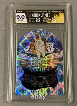 2020-21 Panini Crown Royale LEBRON JAMES Purple Sno Globe 13/25 VERY RARE! #3