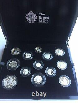 2020 Royal Mint Silver Proof Annual Coin Set Including Team GB 50p Very Rare