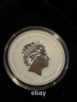 2020 Tuvalu 5 oz. 999 Silver Black Flag The Royal Fortune VERY RARE HARD TO FIND