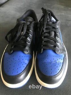 Air Jordan 1 Low OG Royal Black Size 10 Very Rare 2015 Release