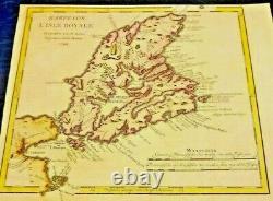 Antique Map of Karte von L'isle Royale (Belin) 1744. Lake Superior. Very Rare