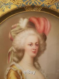 Antique Very Rare Original Royal Vienna Plate MARIE ANTOINETTE