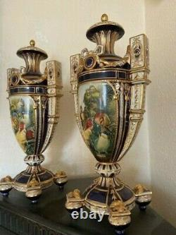 Antique Very Rare Porcelain pair of the vases Imperial Russia Imperial Russian