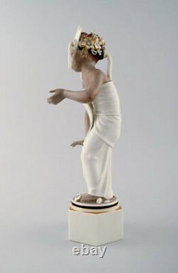 Arno Malinowski for Royal Copenhagen, number 12238. Bali girl. Very rare