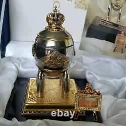 Authentic FABERGE Imperial STEEL MILITARY EGG withORIG Box VERY RARE