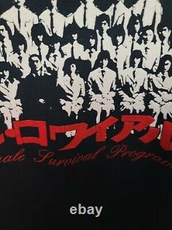 Battle Royale survival program vintage t-shirt 2001 Japanese Very Rare Shirt
