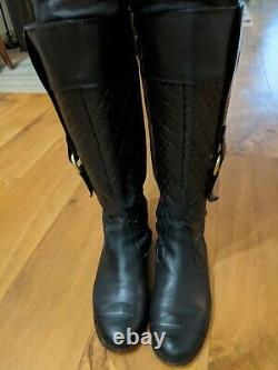 Burberry Leather Boots Riding Size 9, Very Rare
