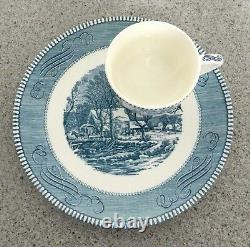 CURRIER & IVES by Royal The Old Gristmill 2 pc SNACK SET - VERY RARE