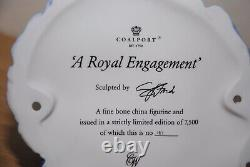 Coalport A Royal Engagement Figurine Limited Edition Very Rare