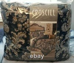 Croscill Blue Imperial Damask King Comforter Set with 2 Extra Shams Very Rare