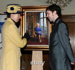 Darren Baker Royal Artist the Queen Signed print copy VERY RARE