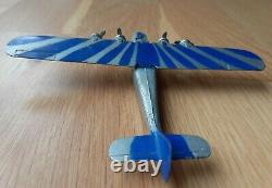 Dinky Airplane Imperial Airliner #60a, Sun Ray Blue and Silver Very Rare