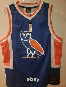 Drake's October's Very Own OVO Owl Royal Blue Basketball Jersey Size XL NWT RARE