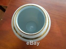 Faberge Imperial Gold China Vase The Pine Cone Egg 7 1/4 Near To Mint Very Rare