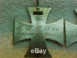 GERMAN VERY RARE ROYAL BAVARIAN ARMY WWI 1st & 2nd KLASS IRON KROSS SET, SILVER