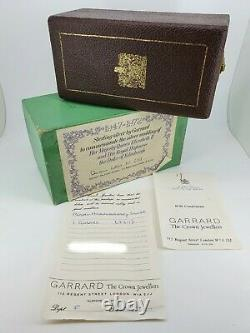 Garrard Silver 25th Royal Wedding Anniversary Goblet Boxed with Papers Very RARE