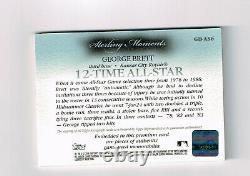 George Brett 2006 Topps Sterling Auto 4 Piece #5/10 Sp Very Rare! Kc Royals Hof