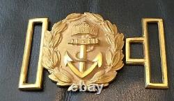 Imperial German, Very Rare (1888-1901) Navy Officers Belt Buckle Complete