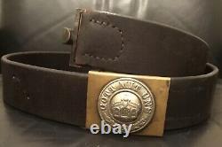 Imperial German, WW 1, Very Rare, Marine Infantry EM Belt & Brass Buckle