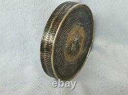 Imperial Russian gilded silver and niello snuff box Bonbonniere 1820s Very Rare