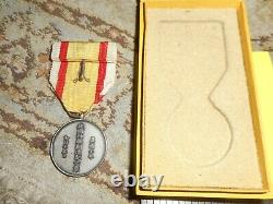 Japanese Imperial Manchukuo Govt. 1940 Shrine medal. RARE Cased very nice
