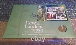 Kew Gardens 2009 50p Coin BU In Royal Mint First Day Cover Very Rare