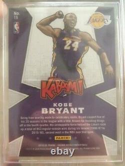 Kobe bryant 2019-20 Crown Royale KABOOM Gem mint 9.5! Very rare card