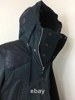 Mens Barbour Land Rover Ice Parker Large Lovely Condition Royal Blue Very Rare