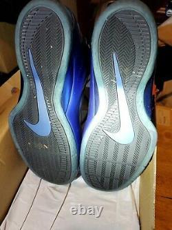 Nike Air Foamposite Lite Rare Item Sz12 Very Good Condition Black/Dk Royal