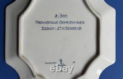Porceleyne Fles 1980 Schevingen Plaque 23 x 30cm Royal Delft VERY VERY RARE