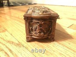 Queen Victoria Royal Ormolu Commemorative Jewelry Box Antique 1897- Very Rare