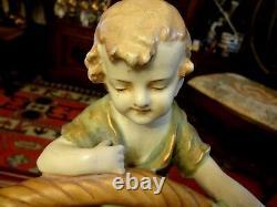 Rare & Superb Very Large Art Deco Imperial Amphora Figural Planter 1478