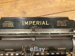 Rare imperial A typewriter very low serial number