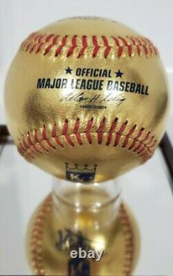 Rawlings 24kt Gold Kansas City Royals Logo Baseball Very Rare Bud Selig