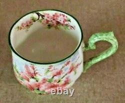 Royal Albert Blossom Time Demitasse Cup & Saucer (Green Trim) VERY RARE