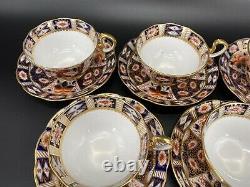 Royal Albert Imari Tea Cup Saucer Set x 6 Bone China England Very Rare