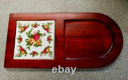 Royal Albert Old Country Roses Cheese Board Excellent Cond. VERY RARE
