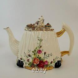 Royal Albert Old Country Roses Large Novelty Teapot Afternoon Tea Very Rare
