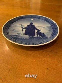 Royal Copenhagen Jul 1940 Christmas plate Shepherd in the Desert Very Rare