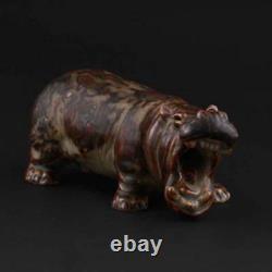 Royal Copenhagen, Knud Kyhn. Hippopotamus # 20239. VERY RARE