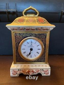 Royal Crown Derby Mantle Clock Old Imari 1128 VERY RARE ITEM, great XMAS gift