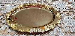 Royal DOULTON Old Country Roses 17 Serving (Turkey) Platter VERY RARE GOLD