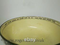 Royal Doulton Isaac Walton Ware Footed Bowl VERY RARE c1905