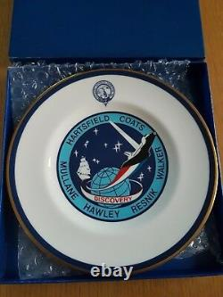 Royal Doulton STS 41 D plate Nasa Space Shuttle Discovery Very Rare
