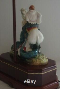 Royal Doulton St George Slaying Dragon Hn 2051 Lamp 28 Very Rare Vintage