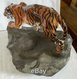 Royal Doulton Very Rare Tiger on Rock Figurine HN2639 (Prestige)